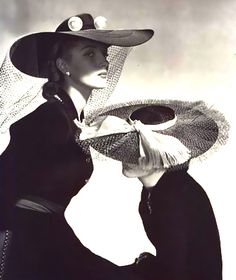 @: Spring hats Horst P. Horst, 1942  What a bit of tule will bo...