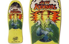Another one for the nerd in me.  Jeff Kendall pro model put out by Santa Cruz in 1986.  Designed by Jim Phillips.