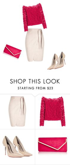 """Smartpink"" by kikka-fathy ❤ liked on Polyvore featuring H&M, Sophia Webster and River Island"