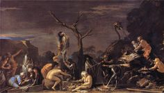 Salvator Rosa, Witches at Their Incantations image via http://www.nationalgallery.org.uk/paintings/salvator-rosa-witches-at-their-incantations