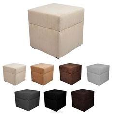 Pouf cube coffre de rangement ALICANTE