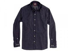 Owen Charcoal Blue Denim Shirt by Ernest Alexander.