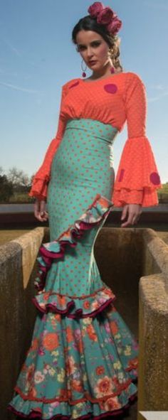 Flamenco Costume, Flamenco Dancers, Make Your Own Dress, Gala Dresses, Fancy Dress, African Fashion, Pin Up, Costumes, Patterns