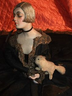 RARE French Fashion 1920's Boudoir Bed Doll Poupee Possibly Gerb of Paris | eBay