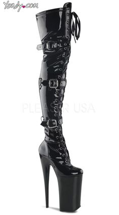 10 Inch Heel, 6 1/4 Inch Pf Lace-up Thigh Boot-WANT!!