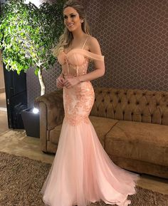 Elegant Pink Tulle Mermaid Off Shoulder Prom Dresses,Long Prom Dress With Lace Appliques,Appliques Prom Dress,Prom Gowns,A-line Evening Dress Mermaid Prom Dresses Lace, Sweetheart Prom Dress, Pink Prom Dresses, Formal Dresses, Lace Mermaid, Dress Prom, Long Dresses, Party Dresses, Wedding Dresses