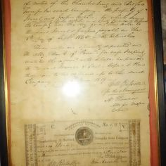 Antique promise note for the Bedford and Chambersburg  Turnpike Road Company