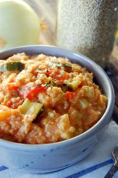 Crockpot Tomato and Vegetable Quinoa Risotto from Uproot from Oregon