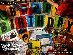 Have a DINOTRUX Birthday Celebration! (Free Printables) #StreamTeam