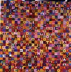 Abstractism BOETTI Alighiero -  I verbi irregolari