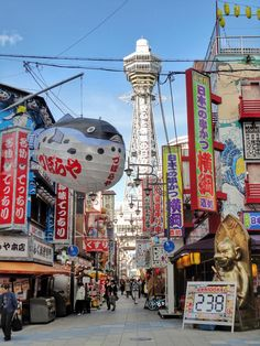 """Known as the """"heart of Kansai"""", Osaka is filled with a mix of both traditional and modern culture. These are the top 10 things to do in Osaka. Aesthetic Japan, Japanese Aesthetic, City Aesthetic, Japanese Modern, Kyoto, Nara Japan, Namba Parks, The River, Places To Travel"""