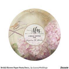 Bridal Shower Paper Party Decor Pink Hydrangea Art