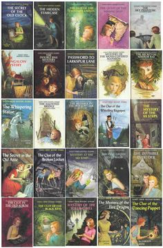 Nancy Drew Mystery Books - How I  loved these. I remember most of these covers (like I remember the faces of old friends)