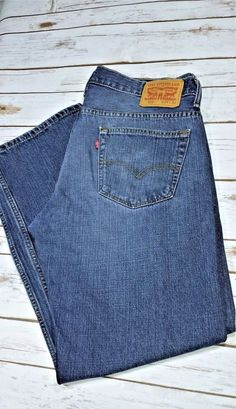 c6018ecf Levis 569 Men's 29x32 Student Loose Straight Fit Medium Wash Denim Blue  Jeans | eBay