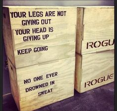 Mid-WOD crossfit encouragement