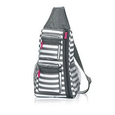 Sling-Back Bag in Grey Wave  50% OFF this month! Shop at www.mythirtyone.com/gzarpentine
