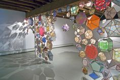 Kirsten Hassenfeld-love how the light shines through this installation and creates interesting shadows on the walls and floors-reminds me of real stained glass Objet D'art, Led Lampe, To Color, Art Plastique, Installation Art, Art Lessons, Paper Art, Vellum Paper, Creative