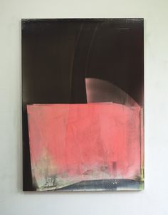 Matt McClune. Black over Pink Composition 2016