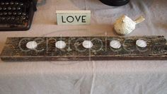 Votive Log Long 5 Piece + Candle available for hire from www.centrepiece.co.nz