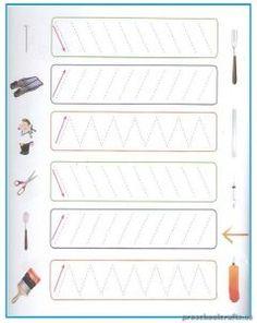 Tracing Line Worksheets for Kindergarten