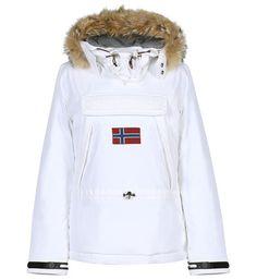 Parka Galeries Lafayette, achat Coupe-vent court Napapijri en blanc pour femme prix promo Galeries Lafayette 500.00 € TTC