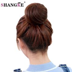 Cheap clip in hair, Buy Quality clip in hair extensions directly from China clip ins Suppliers: SHANGKE Short Straight Hair Bun Heat Resistant Synthetic Hairpieces Synthetic Clip In Hair Extensions Women Hairstyles
