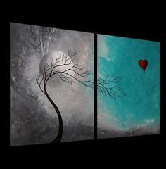Custom Abstract Tree Painting by Jaime Best  In by BestArtStudios2, $300.00