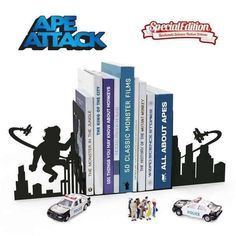 Ape Attack Metal Ape Bookends  #gift #cool #sale #birthday #presents #quirky #mzube #shopping #gifts #cheap   https://www.mzube.co.uk