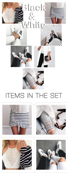"""•Black & White + Rtd•"" by amaya99 ❤ liked on Polyvore featuring art"