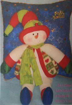 Free Patterns and molds Cushions Christmas | EcoArtesanias.com Elf On The Shelf, Ronald Mcdonald, Free Pattern, Santa, Felt, Pillows, Cushions, Holiday Decor, Christmas