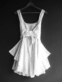 everyone has that little black dress. well this should become someone's little white dress.