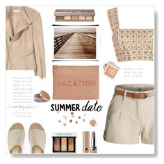 """""""Summer date"""" by gul07 ❤ liked on Polyvore featuring LE3NO, Mint Velvet, Oscar de la Renta, H&M, Madewell, Umbra, Bobbi Brown Cosmetics, Marc Jacobs, Topshop and Urban Decay"""