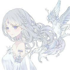Girl bird illustration inspiration 17 new ideas Anime Chibi, Manga Anime, Kawaii Anime, Fan Art Anime, Anime Art Girl, Anime Girls, Anime Angel Girl, Pretty Anime Girl, Beautiful Anime Girl