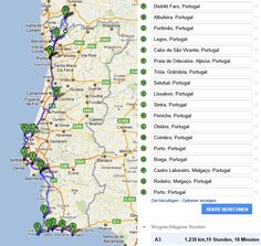 portugal road trip itinerary - Google Search