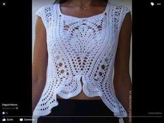 Tina's handicraft : wavy crochet top