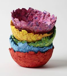 The French term papier-mâché means chewed up paper. Use this strong paper mache paste recipe to make your finished craft projects more durable. Paper Mache Crafts For Kids, Making Paper Mache, Paper Mache Projects, Vbs Crafts, Paper Mache Paste, Paper Mache Bowls, Paper Bowls, Paper Clay, Diy Paper