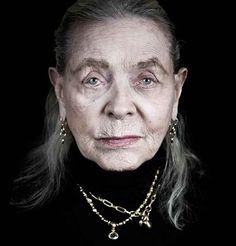 A face that has lived a full life or hardly life at all. And what is revealed about her story after this life? And the invitation for a life to come - what is written here about that? Lauren Bacall at 88. ~Photo by Andy Gotts