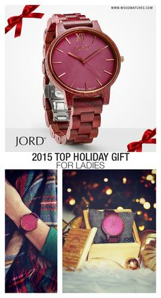 Give the gift on everyone's list this year! JORD's line of hand-crafted, high design, wood timepieces are unique, unexpected, and will be unforgettable on Christmas morning. Gorgeously grained wood cases and bands are fitted with premium movements to create a timepiece that will be treasured for years to come. Find your perfect present today at www.woodwatches.com Extended return period for holiday gifts. One year Warranty. Ships worldwide!