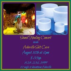 Sound healing concert inside the Salt Cave
