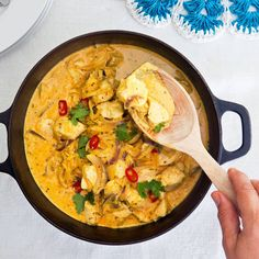 Kycklinggryta med curry - recept | Mitt kök 300 Calorie Lunches, 300 Calories, Everyday Food, Betta, Great Recipes, Food To Make, Chicken Recipes, Good Food, Food Porn