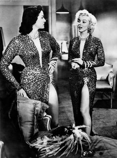 Jane Russell and Marilyn Monroe
