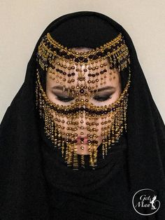Face Veil, Face Face, Tribal Face, Tribal Looks, Face Jewellery, Jewelry, Arabian Beauty, Belly Dancers, Dark Ages
