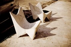 Concrete Butterfly Chairs----PS- I am going to figure out how to make the mold for these someday!