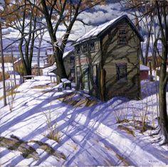 "aleyma: ""Frank C Kirk, Up the Hudson, 20th century (source). """
