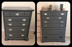 Chic distressed charcoal grey chalk paint by FurnitureAlchemy, $350.00