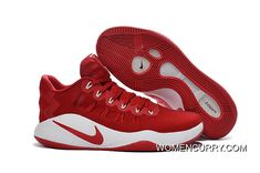 the latest 695af 9ae0b Nike Hyperdunk Low Red White Men s Basketball Shoes New Style