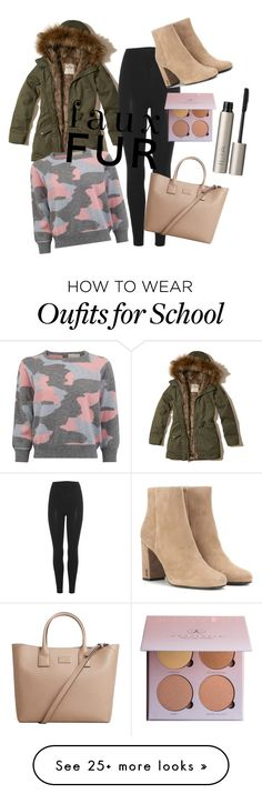 """outfit for school"" by nika-medic on Polyvore featuring Hollister Co., adidas Originals, Yves Saint Laurent, MANGO and Ilia"