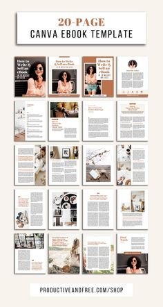 Social Media Discover Canva eBook Template Bundle Productive and Free ebook templates Magazine Design, Graphic Design Magazine, Design Poster, Book Design Layout, Page Layout, Design Food, Web Design, Mises En Page Design Graphique, Design Bauhaus