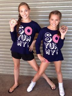 Maddie's Aunt bought her and Mackenzie these matching shirts