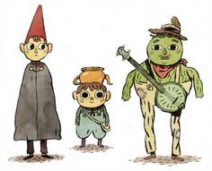 """""""Over The Garden Wall"""" character-designs by Mikkel Sommer. ★ 